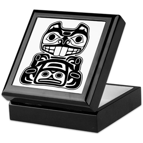 Beaver Native American Design Keepsake Box