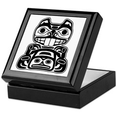 Beaver Native American Design Keepsake Box