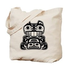 Beaver Native American Design Tote Bag