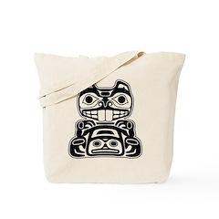 Beaver Native American Design Tote Bag