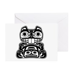 Beaver Native American Design Greeting Cards (Pk o