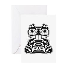 Beaver Native American Design Greeting Card