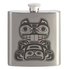 Beaver Native American Design Flask