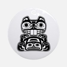 Beaver Native American Design Ornament (Round)