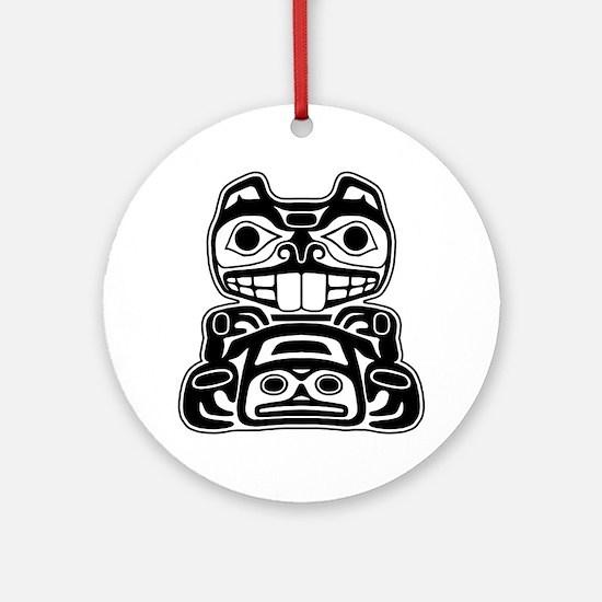 Beaver Native American Design Ornament (Round)