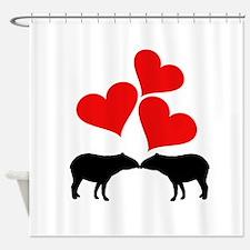 Hearts & Tapirs Shower Curtain