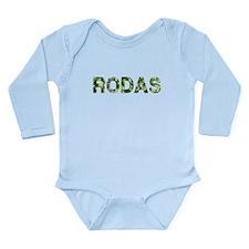 Rodas, Vintage Camo, Long Sleeve Infant Bodysuit