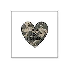 "Proud Army Grandma Square Sticker 3"" x 3"""