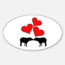 Hearts & Tapirs Decal