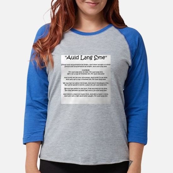 Auld_Lang_Syne_black.png Womens Baseball Tee