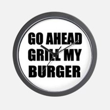 Grill My Burger Wall Clock