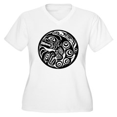 Circle of Faces Native American Design T-Shirt
