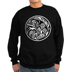 Circle of Faces Native American Design Sweatshirt