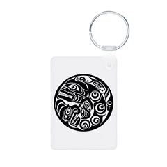 Circle of Faces Native American Design Keychains