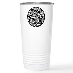 Circle of Faces Native American Design Travel Mug