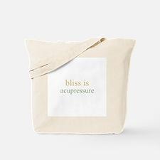 bliss is ACUPRESSURE  Tote Bag