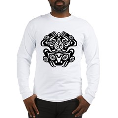 Frog Native American Design Long Sleeve T-Shirt