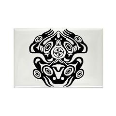 Frog Native American Design Rectangle Magnet