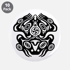 """Frog Native American Design 3.5"""" Button (10 pack)"""