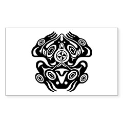 Frog Native American Design Sticker (Rectangle)