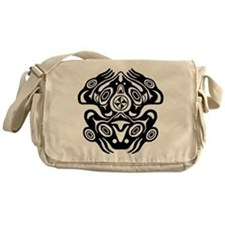 Frog Native American Design Messenger Bag