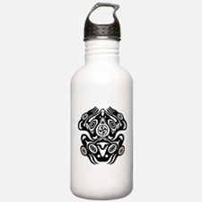 Frog Native American Design Water Bottle