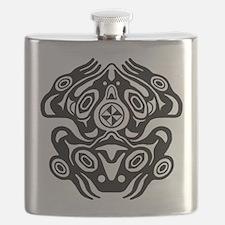 Frog Native American Design Flask