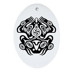 Frog Native American Design Ornament (Oval)