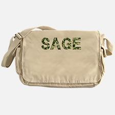 Sage, Vintage Camo, Messenger Bag