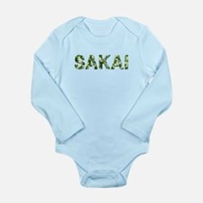 Sakai, Vintage Camo, Long Sleeve Infant Bodysuit