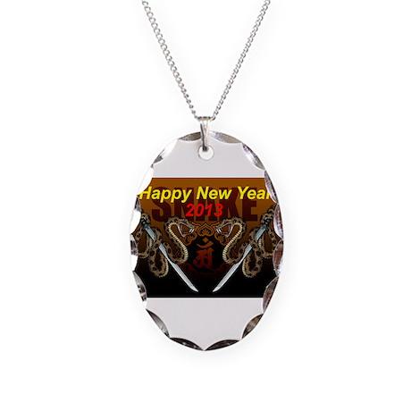 2013snake8 Necklace Oval Charm