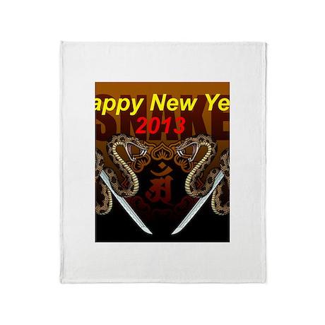 2013snake8 Throw Blanket
