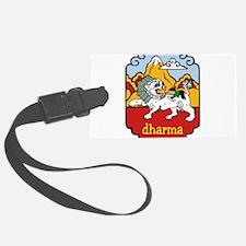 Snow Lion + Dharma Luggage Tag