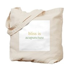 bliss is ACUPUNCTURE Tote Bag