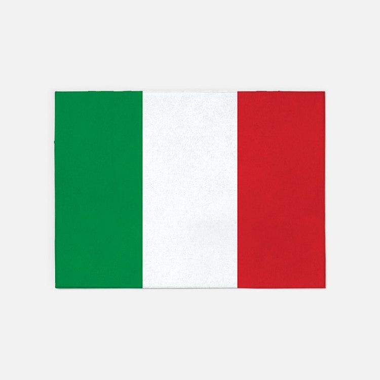 Italian Flag 5'x7'Area Rug