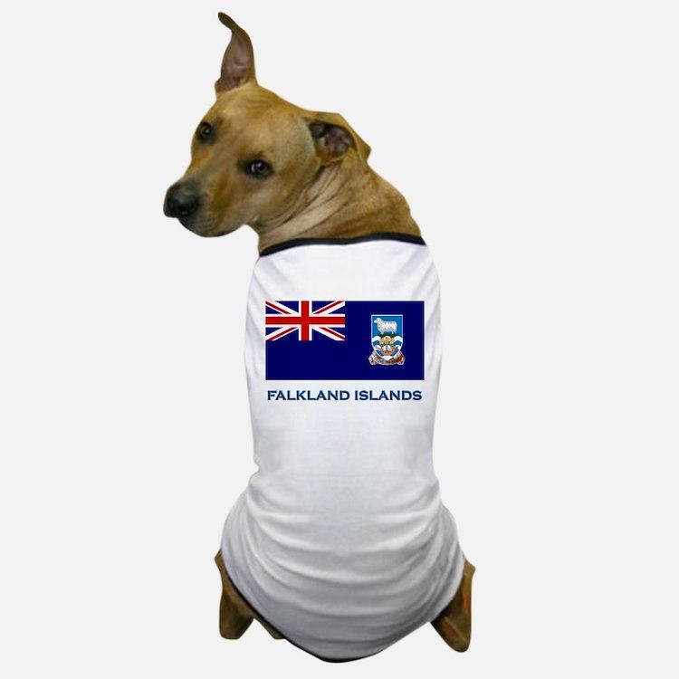 The Falkland Islands Flag Stuff Dog T-Shirt