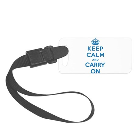 Keep Calm And Carry On Small Luggage Tag