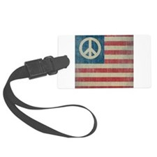 Vintage Peace In America Luggage Tag