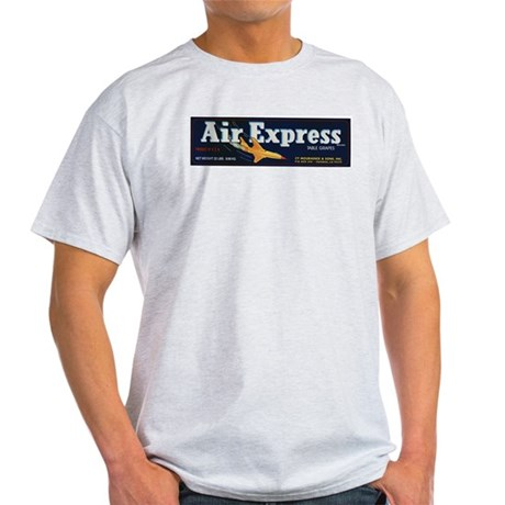Air Express Table Grapes Fuit Crate Label Light T-