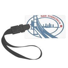 Retro San Francisco Luggage Tag