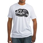 Raven Native American Design Fitted T-Shirt