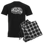Raven Native American Design Men's Dark Pajamas