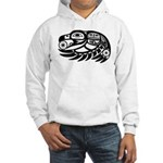 Raven Native American Design Hooded Sweatshirt