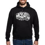 Raven Native American Design Hoodie (dark)
