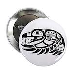 """Raven Native American Design 2.25"""" Button (10"""