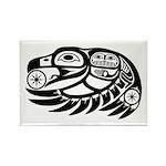 Raven Native American Design Rectangle Magnet