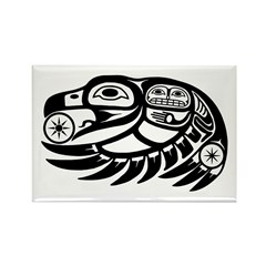 Raven Native American Design Rectangle Magnet (10
