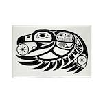 Raven Native American Design Rectangle Magnet (100