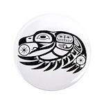 """Raven Native American Design 3.5"""" Button"""