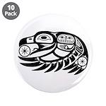 """Raven Native American Design 3.5"""" Button (10"""